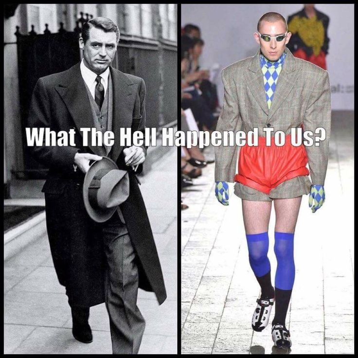 EXACTLY! I wonder myself! We are a generation of Lazy everything.... What a shame we are too lazy to dress sharp or not leave the house!