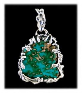 Royal Blue Turquoise Pendant by Crystal Hartman of Durango, Colorado