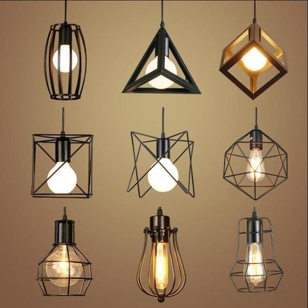 Retro Indoor Lighting Vintage Pendant Light Led Lights 24 Kinds Iron C Ecenturydeals Com Ledlamp Indoorlighting Desain Lampu Kap Lampu Lampu