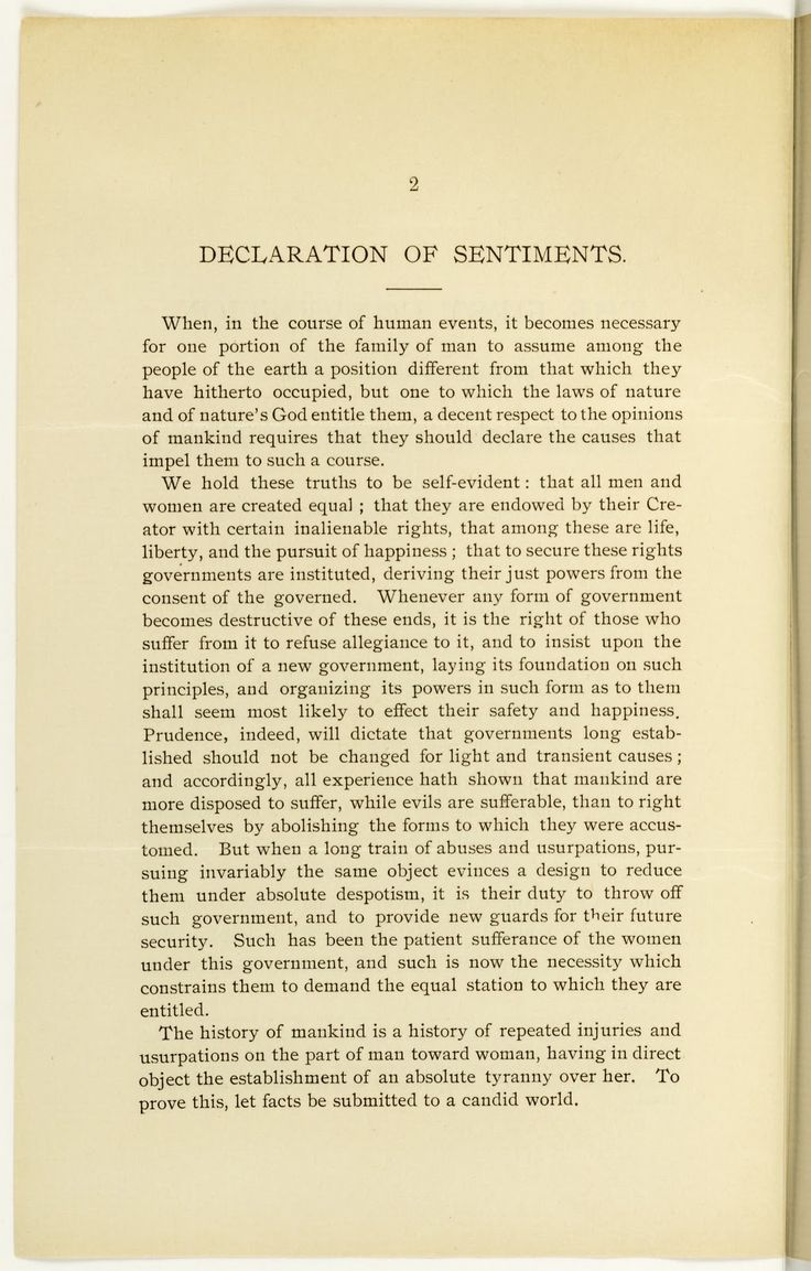 best ideas about declaration of sentiments the declaration of sentiments was a document written by elizabeth cady stanton and lucretia mott for