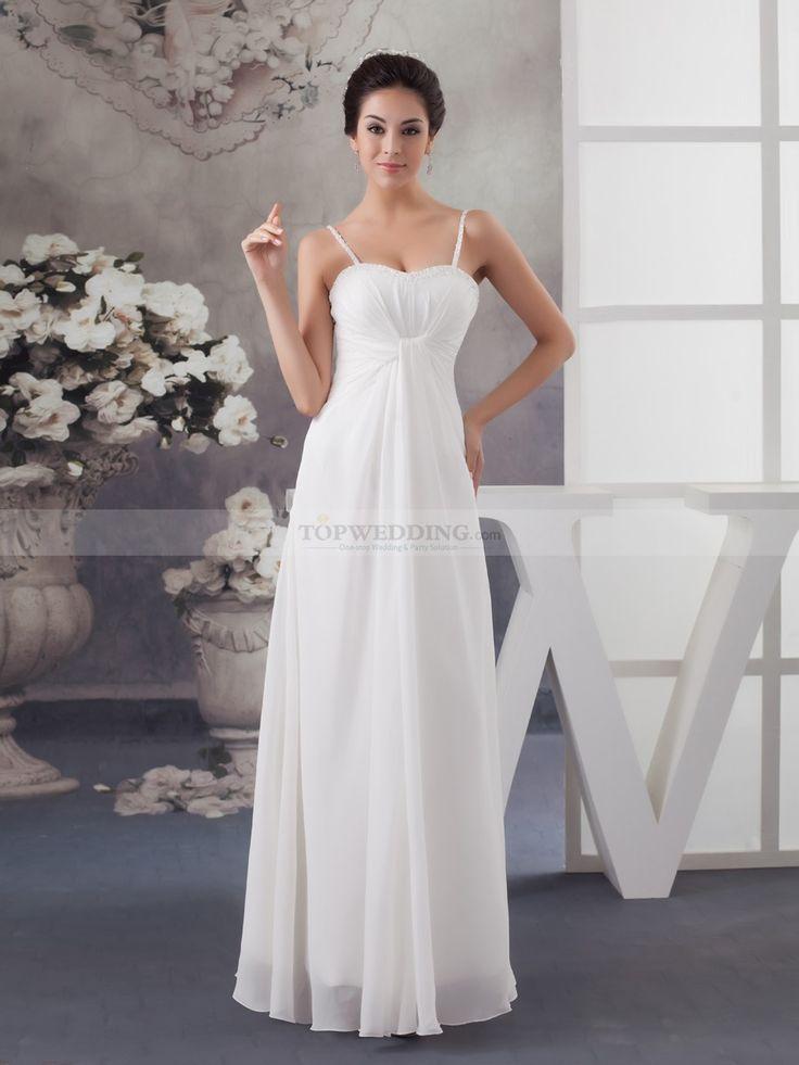 Nettia - corte a escote corazón vestido de novia de gasa con cuentas