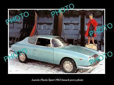 OLD LARGE HISTORIC PHOTO OF 1962 LANCIA FLAVIA SPORT LAUNCH PRESS PHOTO - http://collectibles.goshoppins.com/advertising/old-large-historic-photo-of-1962-lancia-flavia-sport-launch-press-photo/