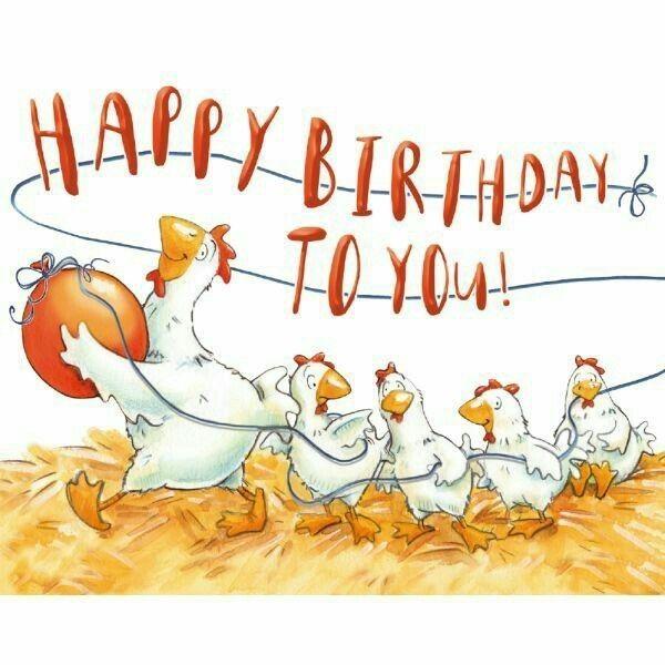 Открытка с днем рождения с курицей, открытки днем рождения