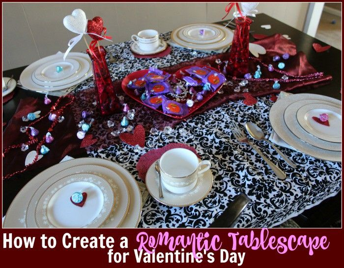 How to Set a Romantic Tablescape for Valentine's Day - #HSYMessageofLove #sponsored
