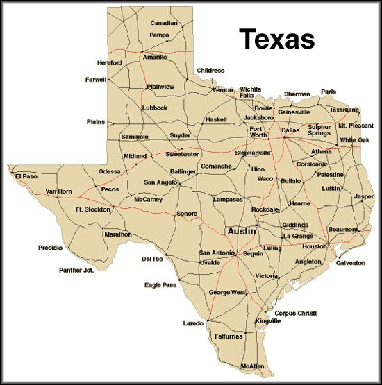 Map Of Texas Cities Only | Business Ideas 2013