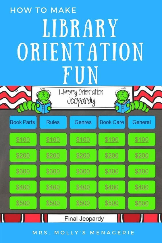 A blog post about library orientation fun!