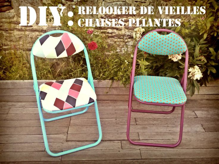 yvonne germaine diy relooker de vieilles chaises pliantes banquettes pinterest banquettes. Black Bedroom Furniture Sets. Home Design Ideas