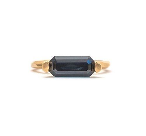 This is one of my favorite rings, it's part of my SOUL MATE exhibition now on @po8gallery. Emerald cut, deep blue Australian (QLD) sapphire 2.1ct #kristamcraejewellery #soulmate #australiansapphire #customcut