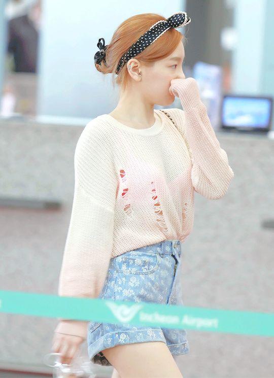 """1/20 taeyeon airport fashion """