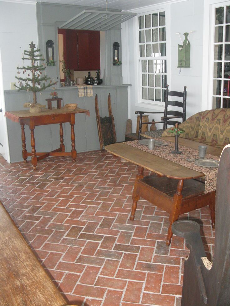 Wrightu0027s Ferry Brick Tiles On Family Room Floor. Marietta Color Mix. Part 44