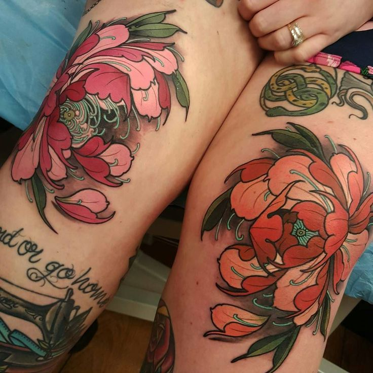 I like these but think the flower looking up and not towards the side looks better.