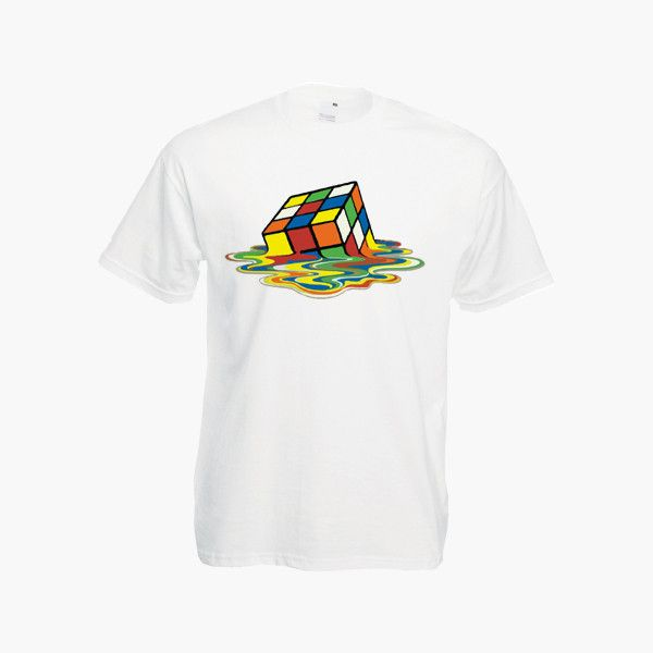 Melting Rubiks Cube Big Bang Theory Geek Nerd Sheldon Womens Mens Unis – Kituout Store