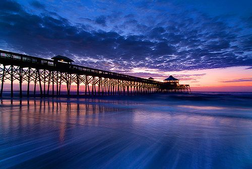 Charleston South Carolina Beaches | Pictured above is Folly Beach, one of prettiest places on the ...
