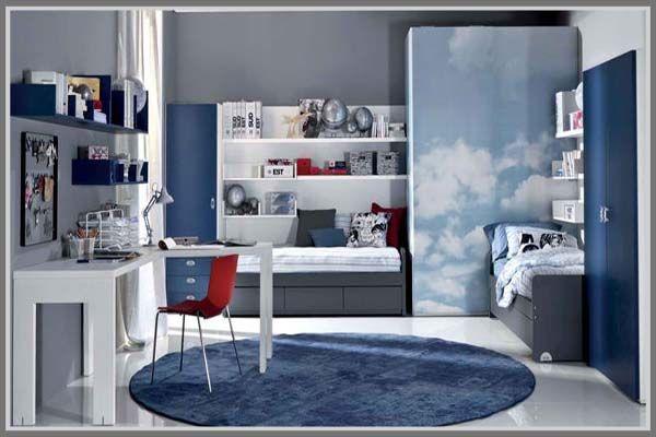 Decorate your boy bedroom interior design with a combination of grey and blue. Sporty, masculine! http://edupaint.com/interior/kamar-tidur-anak/10017-kesan-maskulin-elegan-di-kamar-tidur-anak-laki-laki.html #HiyotoIdea #homedesign #homedecor #housedesign #housedecor #interiordesign #bedroom