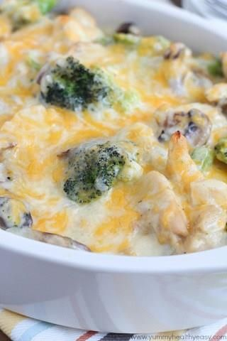 Skinny Chicken Broccoli Casserole    A new delicious way to kill two birds with one stone: try this recipe for delicious low-calorie casserole and make your kids enjoy veggies! This casserole is loaded with tastiest ingredients: chicken breasts, broccolis, mushrooms, onions and cheese. It's so rich and so so creamy with all the Greek yoghurt, cheese and mayonnaise. This skinny […]  Continue reading...    The post  Skinny Chicken Broccoli Casserole  appeared first on  My Comfortable K..