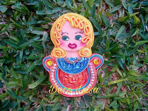 Broche broche de muñeca broche de nespresso por DecoLuisaCreaciones