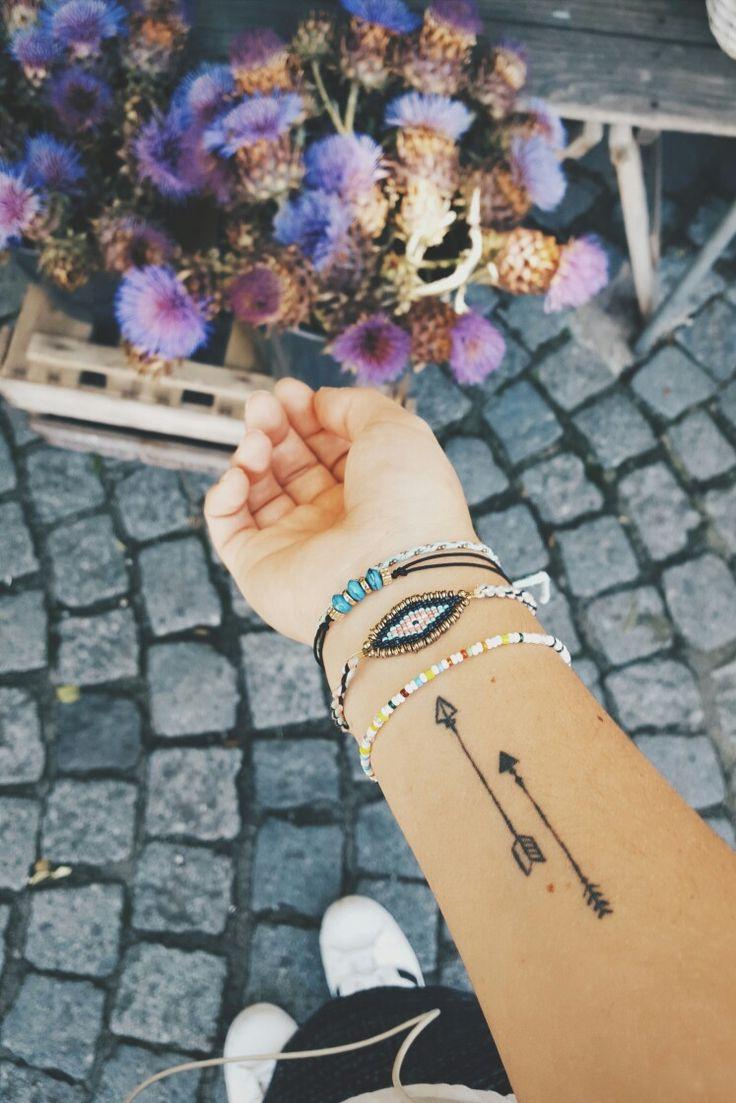 Small pretty arrow tattoo on the wrist my second tattoo #tattoo #goals #arrow