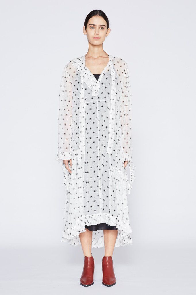 Nancy Silk Georgette Dress With Slip - Natural