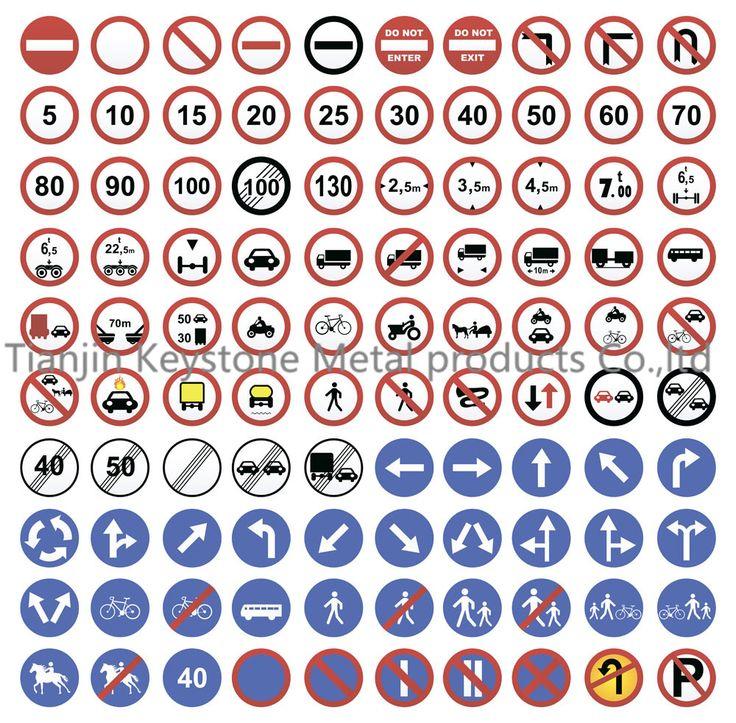 traffic safety road symbol signs