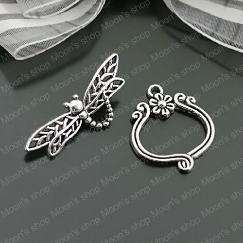 (26903)10 Sets,Antique Silver Plated Zinc Alloy Bracelet Clasps Dragonfly Toggle Clasps Jewelry Findings Accessories wholesale -in Jewelry Findings & Components from Jewelry on Aliexpress.com | Alibaba Group