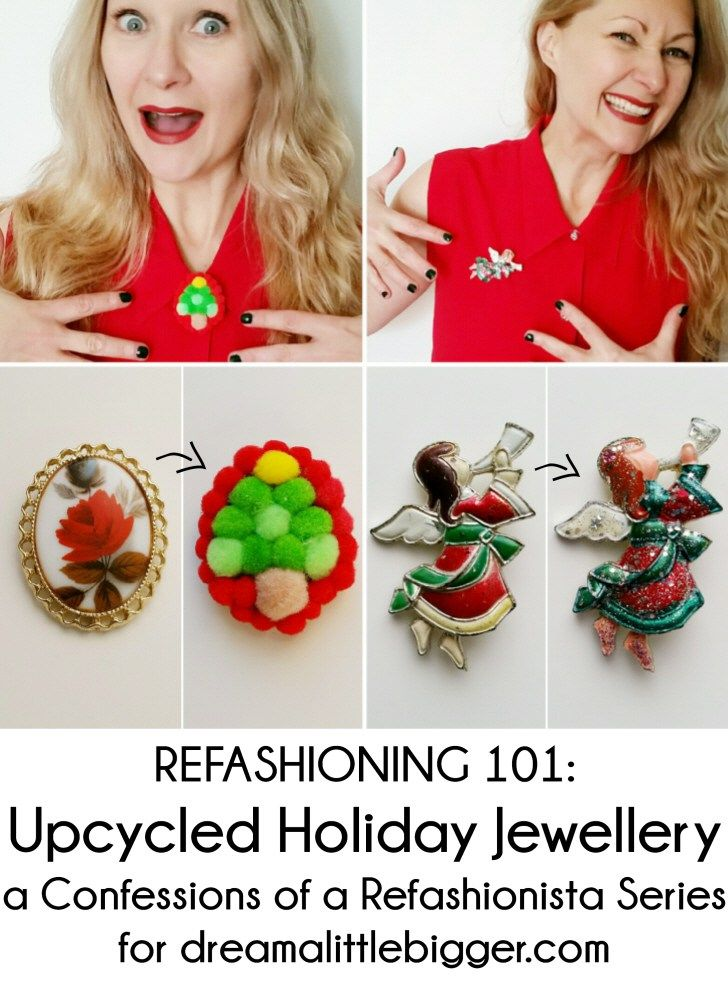 Whip up some holly jolly outfit toppers with my latest Refashioning 101: Upcycled Holiday Jewellery - includes 8 festive (& easy!) refashionista tutorials!