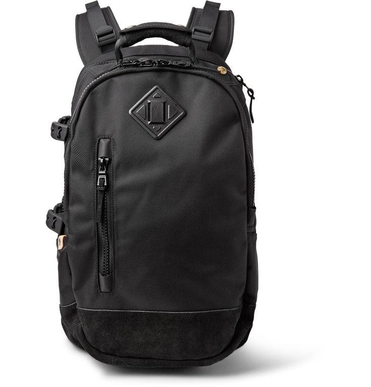 Visvim - Ballistic 20L Suede-Trimmed CORDURA® Canvas Backpack
