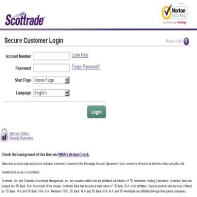 scottrade login access your scottrade account