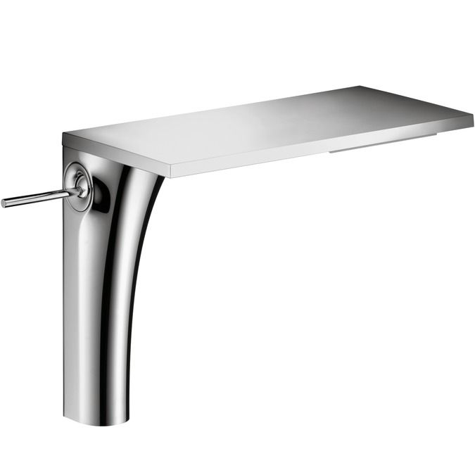 hansgrohe axor massaud bathroom faucet vessel faucet with lever handle ecosmart and quickclean technology chrome silver