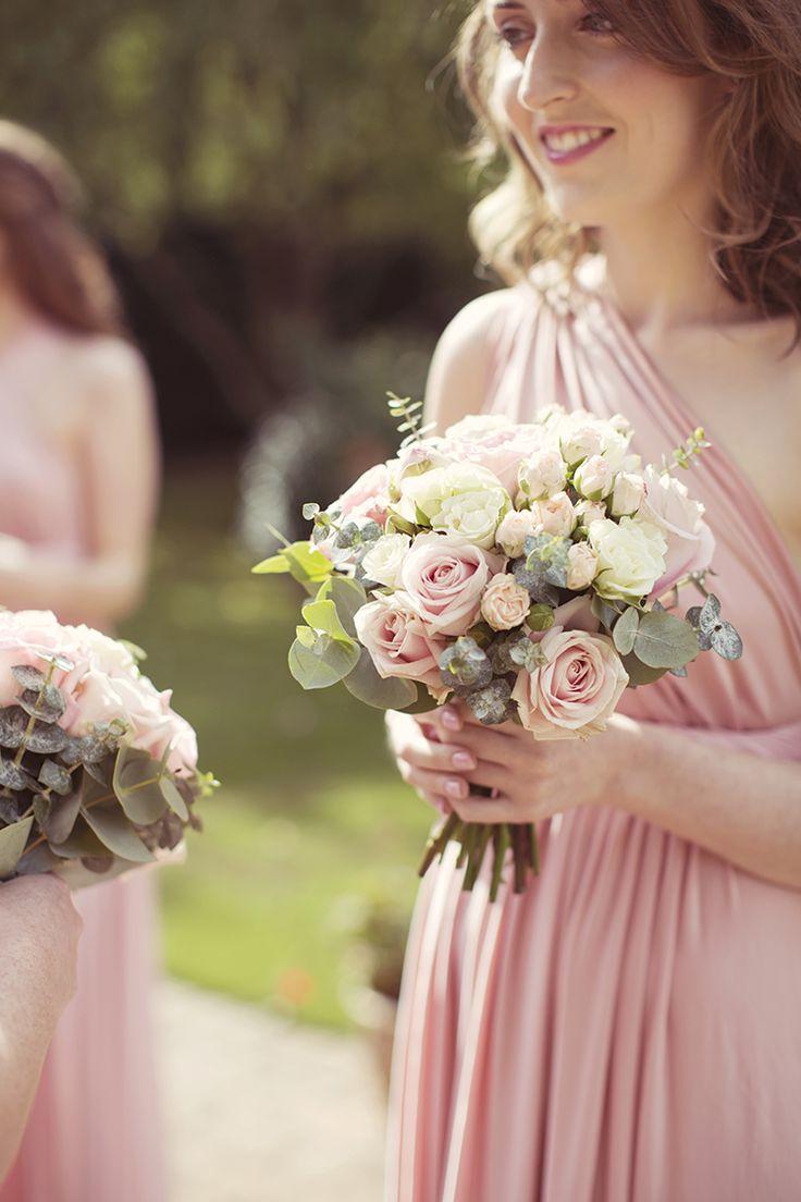 160 best pink wedding flowers images on pinterest pink weddings cream roses bouquet bridesmaid flowers elegant romantic classic pink wedding http dhlflorist Choice Image