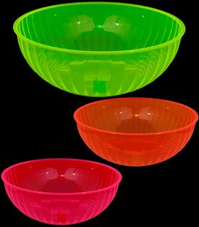 Neon Blacklight Reactive 192 Ounce Plastic Party Bowl - Inidual & 75 best Blacklight Party Tableware and Serving images on Pinterest ...