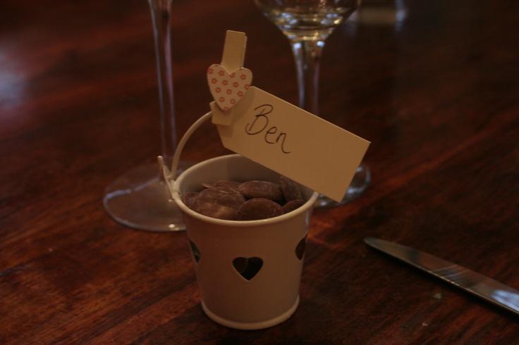 Wedding Favours- Mini heart buckets