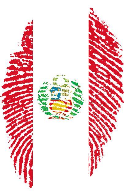 Imagen gratis en Pixabay - Perú, Bandera, Huella Digital, País