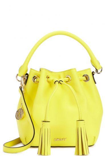 Bryant Park mini yellow bucket bag - Women