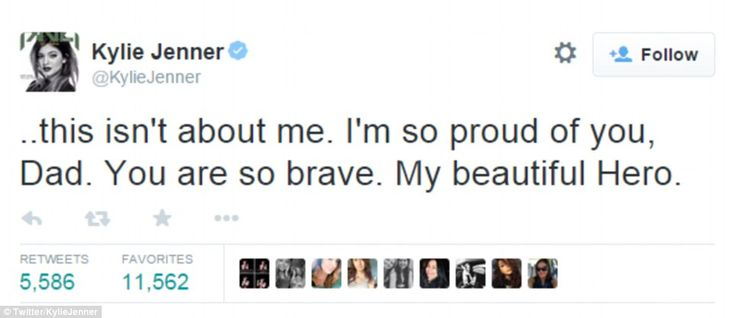 'My hero': But the teenager added: 'But this isn't about me. I'm so proud of you, Dad. You are so brave. My beautiful Hero'