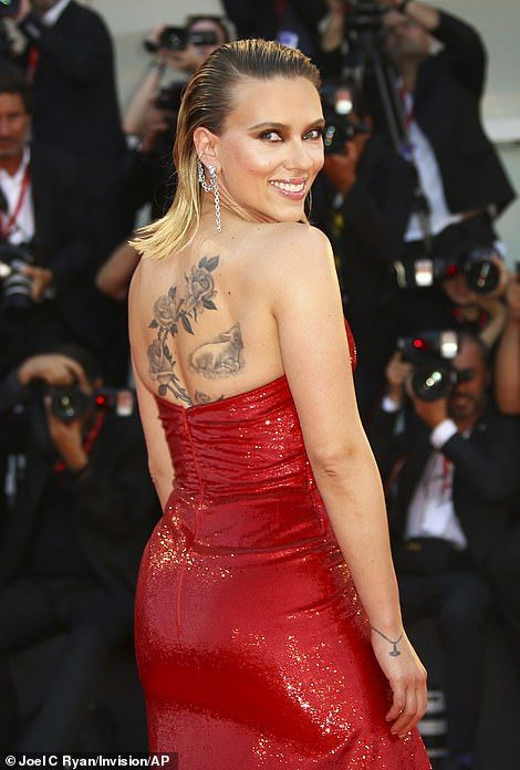 Scarlett Johansson dazzles in pink at Marriage Story premiere