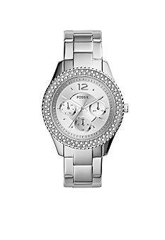 Fossil® Women's Stainless Steel Stella Multifunction Glitz Watch