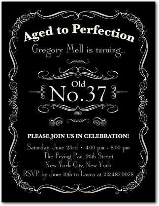 Aged to Perfection - Adult Birthday Party Invitations Postcard - Ceci New York in Black. #TopPin #birthday
