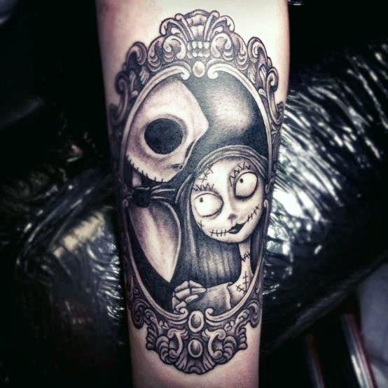 Jack skellington tattoo tattoos pinterest a start for Jack skellington and sally tattoos