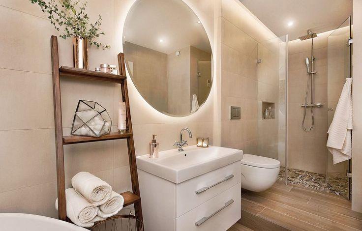 Łazienka - aranżacja fot. Przemysław Kuciński #aranżacje #zdjęcia #łazienki #dizajn #interior #design #bathroom #mirror