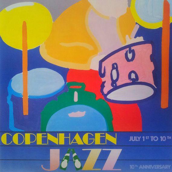 1988 Copenhagen Jazz Festival  Original Vintage by OutofCopenhagen