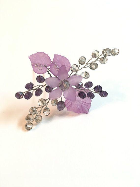 Purple Hair Pin Bridal Wedding Hair Piece wedding от FlowerRainbow