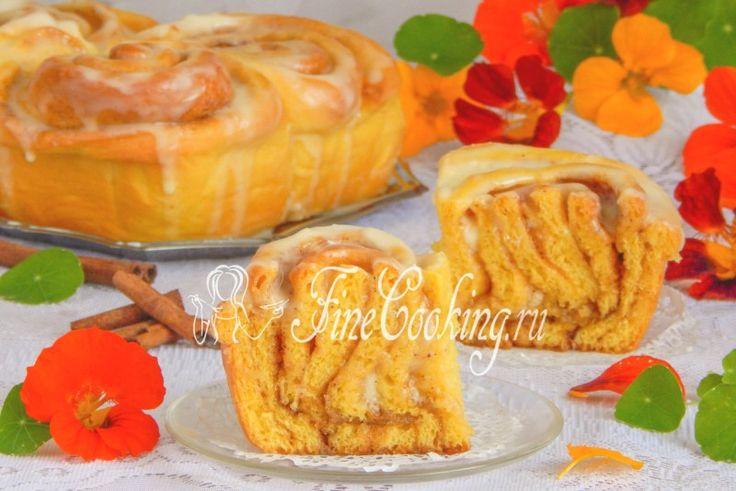 Булочки Синнабон (Cinnabon) тыквенные - рецепт с фото