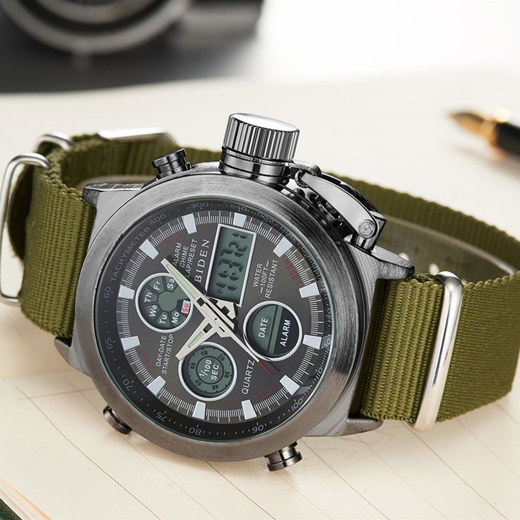Military Style Watch for Men - $12.99 ⌚💪 https://alifinds.com/product/military-style-watch/?utm_medium=ku&utm_source=pi