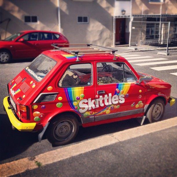 Rainbow punch buggy