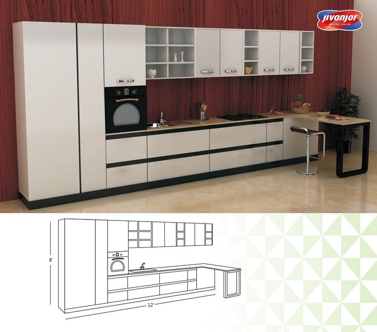 Straight Line Kitchen Layout: 15 Must-see Large Kitchen Layouts Pins