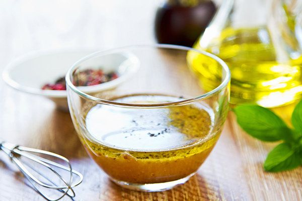 White Balsamic and Honey-Dijon Vinaigrette - Skinny Honey Mustard Dressing 1/2 cup plain nonfat Greek yogurt 2 T yellow, dijon, or your favorite mustard 1 1/2 T raw honey 1 T lemon juice Chopped parsley for garnish Directions: Whisk all the ingredients in a bowl. Serve immediately or store in the fridge for about one week. Keeps best in glass jars.