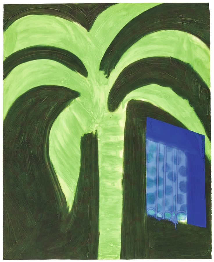 Howard Hodgkin 1932 - 2017 PALM AND WINDOW printed by 107 Workshop, Wiltshire, published by Waddington Graphics, London, on Velin Arches paper 1990-91