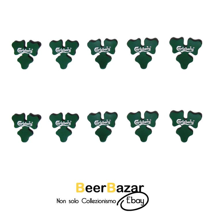 € 4,99 Set 10 calamite Verdi Birra Carlsberg trifoglio fortuna festa Oktoberfest gadget  Vedi altro su: http://stores.ebay.it/BEERBAZAR