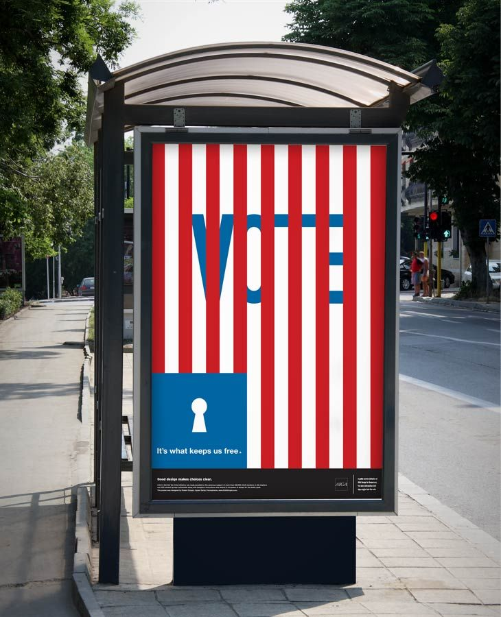 """AIGA: Design for Democracy """"Get Out the Vote"""" Poster (2012)"""