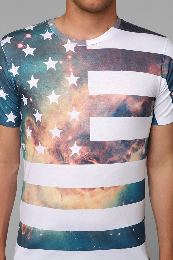 Space Flag Tee - Urban Outfitters